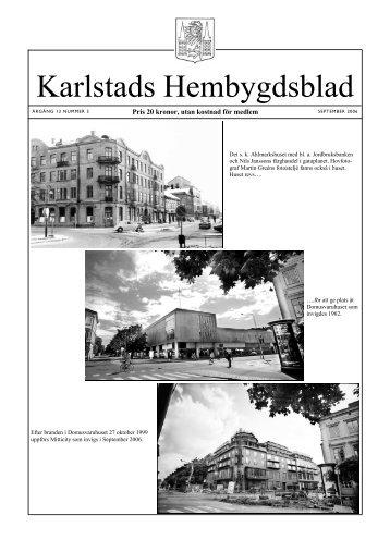 Nr 3 2006 - Karlstads Hembygdsförening