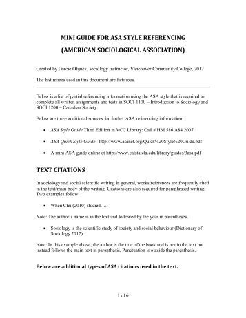 asa format sample paper Style guides asa format charles babbage loved to read the paper and try to solve the codes once, he saw a message from a student inviting his.