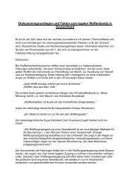 Diskussionsgrundlagen und Fakten zum legalen Waffenbesitz in ...