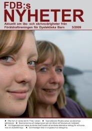 Nr 3, 2009 - Föräldraföreningen för Dyslektiska Barn