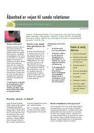 Åbenhed er vejen til sunde relationer - Vangeboskolen