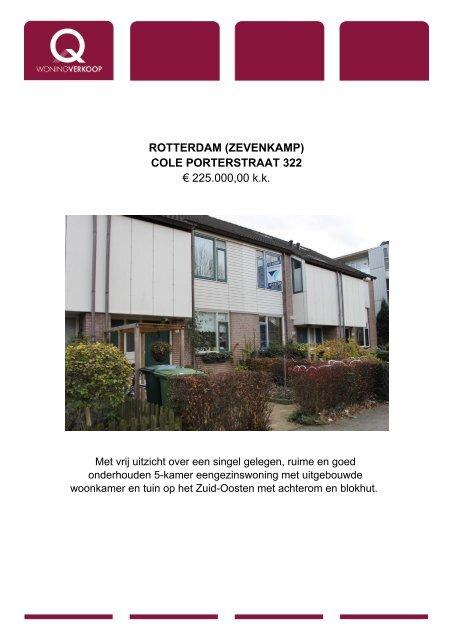 Rotterdam Zevenkamp Cole Porterstraat Q Wonen