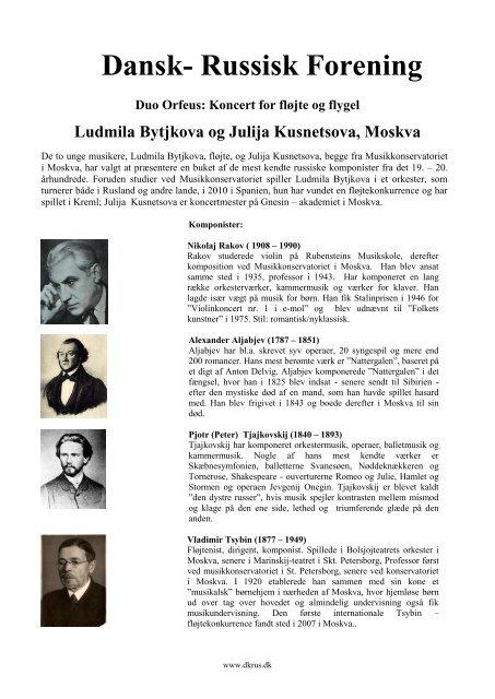 Komponister (pdf) - Dansk-Russisk Forening