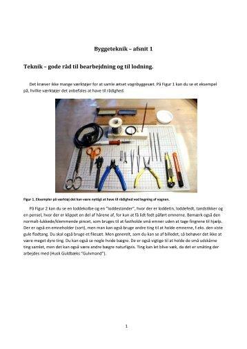 Byggeteknik – afsnit 1 Teknik – gode råd til ... - Banetjenesten