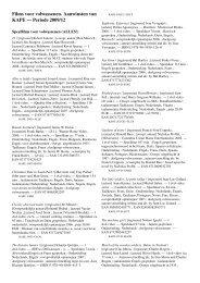 Films voor volwassenen. Aanwinsten van KAPE — Periode 2009/12