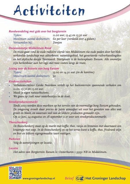 Voorjaar op Ewsum - Stichting Het Groninger Landschap