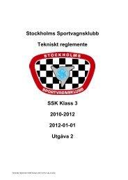 Stockholms Sportvagnsklubb Tekniskt reglemente SSK ... - SSK Serien