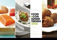 FOOD CON SUMER TRENDS