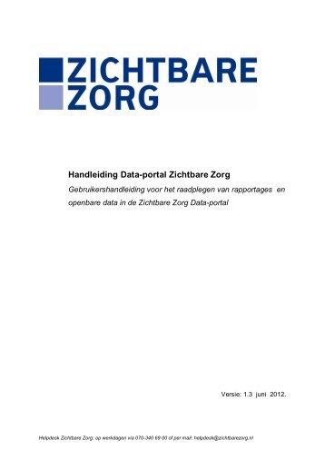 Handleiding Data-portal Zichtbare Zorg