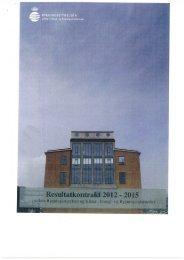 Resultatkontrakt 2012 - Bygningsstyrelsen