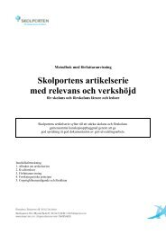 Metodbok - Pedagog Stockholm