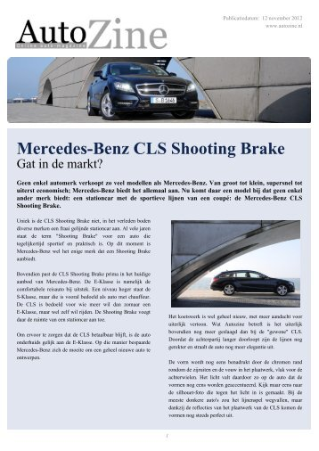 Autozine - Mercedes-Benz CLS Shooting Brake - Autozine.eu