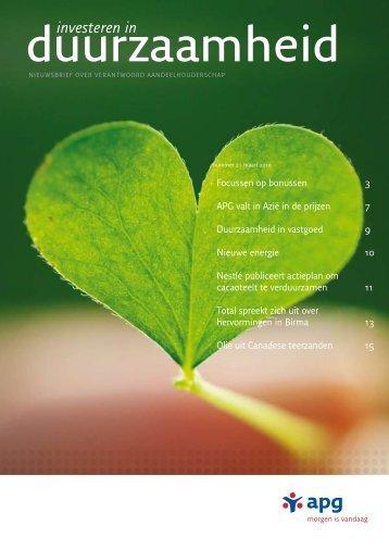 Investeren in Duurzaamheid 2010-2 - APG
