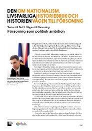 Försoning som politisk ambition.pdf - Forum för levande historia