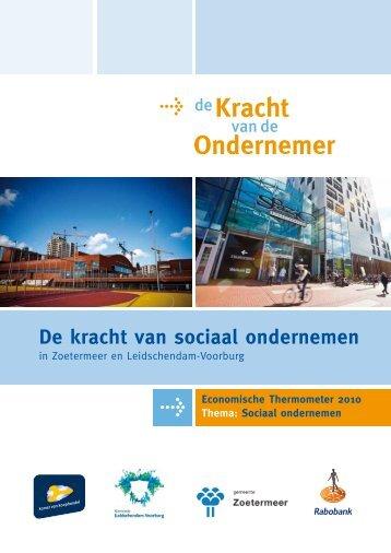KVDO 2011-Thema: sociaal ondernemen - De Kracht van de ...