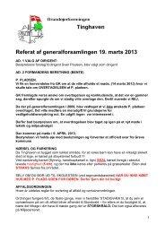 Referat fra generalforsamling 2013 - Grundejerforeningen Tinghaven