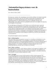 Automatiseringssystemen voor de basisscholen - SIOB