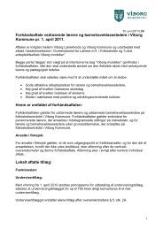 Lokal lønaftale - Viborg Lærerkreds