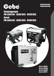 Strømaggregat PM 3500 DC - 6500 DC3 - Mekk