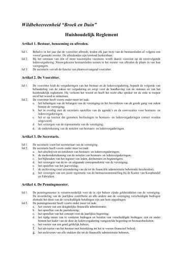 Huishoudelijk Reglement - CMS (www.mijnwbe.nl)