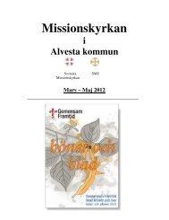 Mars – Maj 2012 - Missionskyrkorna i Alvesta kommun