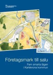 Företagsmark till salu - Karlskrona kommun