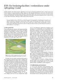 ESS: En forskningsfacilitet i verdensklasse under opbygning ... - Kvant