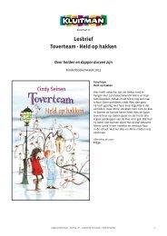 Lesbrief Toverteam - Held op hakken - Kluitman