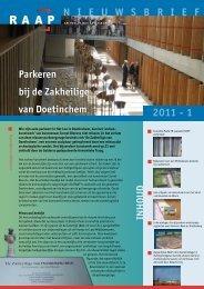 N I E U W S B R I E F 2011 - 1 - RAAP Archeologisch Adviesbureau