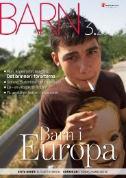 Nr 3 - tema barn i Europa - Rädda Barnen