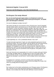 Nederlands Dagblad, 14 januari 2012 Interview met Erik Borgman ...