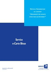 e carte bleue bred 10 free Magazines from BRED.FR