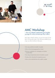 Fact Sheet Workshop.indd - AMC - AMC Consult