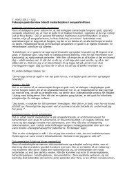 Fokusgruppeinterview blandt medarbejdere i sengeafsnittene