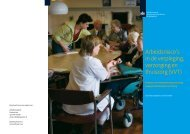 Arbeidsrisico's in de verpleging, verzorging en thuiszorg (VVT)
