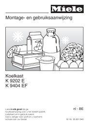 Montage- en gebruiksaanwijzing Koelkast K 9202 E K ... - Electrostore
