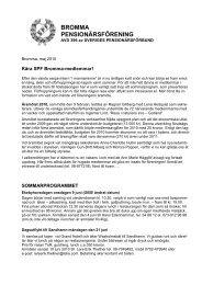medlemsbrev maj 2010 - Sveriges Pensionärsförbund