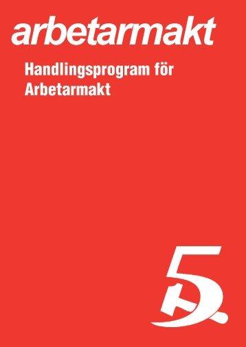 Handlingsprogram för Arbetarmakt i pdf version