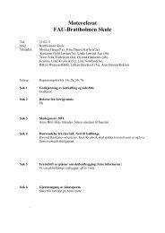 Møtereferat, styremøte for FAU-Brattholmen - Fjell kommune