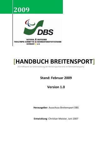 2009 [HANDBUCH BREITENSPORT] - DBS