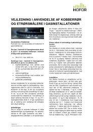 Vejledning i anvendelse af kobberrør og et-rørsmålere til ... - hofor