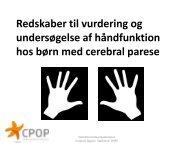 Redskaber til vurdering og undersøgelse af håndfunktion ... - CPOP