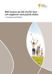 Rätt insatser på rätt nivå för barn och ungdomar med psykisk ohälsa