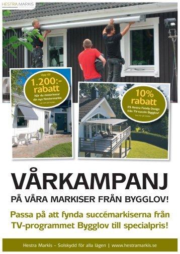 10% rabatt 1.200:- rabatt - Hestra Markis