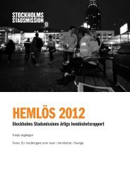 Rapport Hemlös 2012 - Stockholms Stadsmission