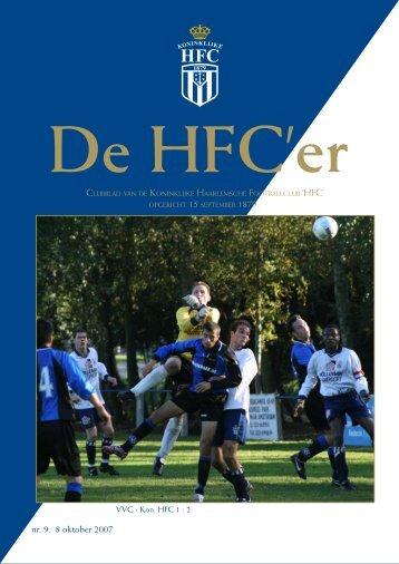 nr. 9. 8 oktober 2007 - Koninklijke HFC