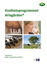 kvalitetsprogrammet Arlagården - Arla.com