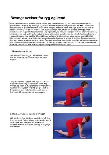 Bevægeøvelser for ryg og lænd - Hvidovre Hospital