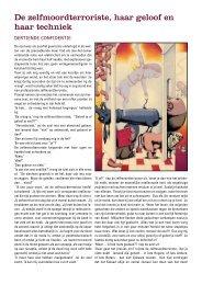 De zelfmoordterroriste, haar geloof en haar techniek - WINOB