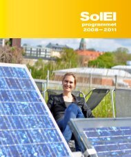 programmet 2008– 2011 - SolElProgrammet